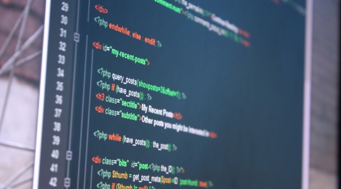 Picture of PHP code from a WordPress theme